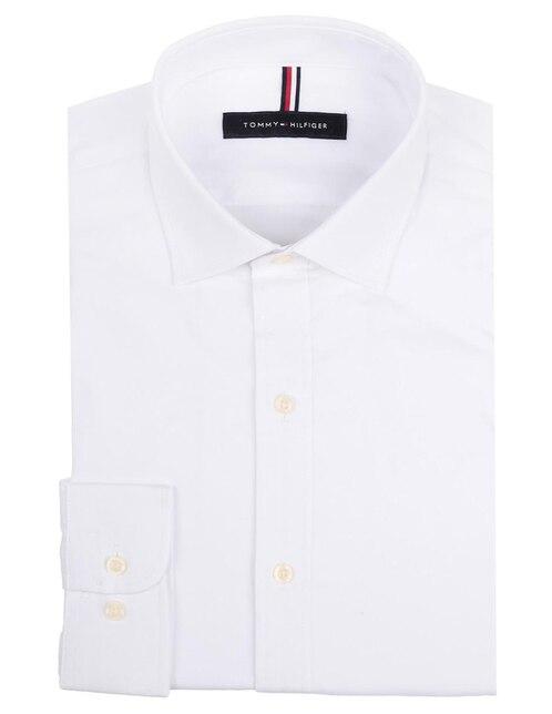 ac93fbb642 Camisa de vestir Tommy Hilfiger cuello francés corte slim fit blanca