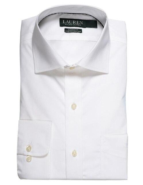 Camisa de vestir Polo Ralph Lauren cuello italiano corte regular fit manga  larga blanca d7c3583f91b91