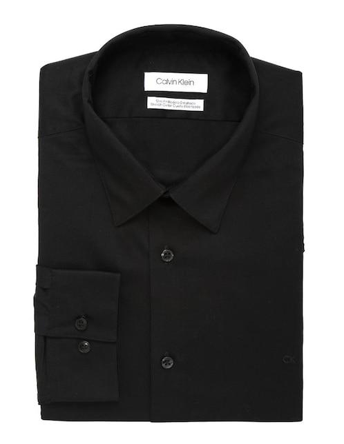 Camisa de vestir Calvin Klein cuello francés corte slim fit manga larga  negra 4507ef4c21d3