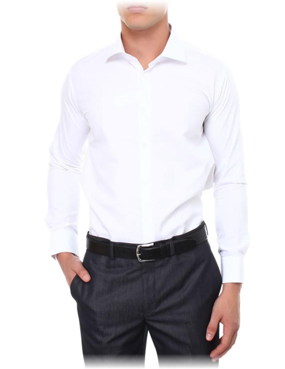 Camisa de vestir Vasarelli corte slim fit cuello francés algodón