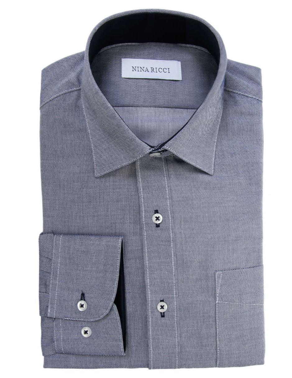 10d1bf661b3ee Gráfico Fit Cuello Camisa Corte Regular Diseño Nina Azul Francés De Ricci  Con Vestir IxI1zAqwa ...