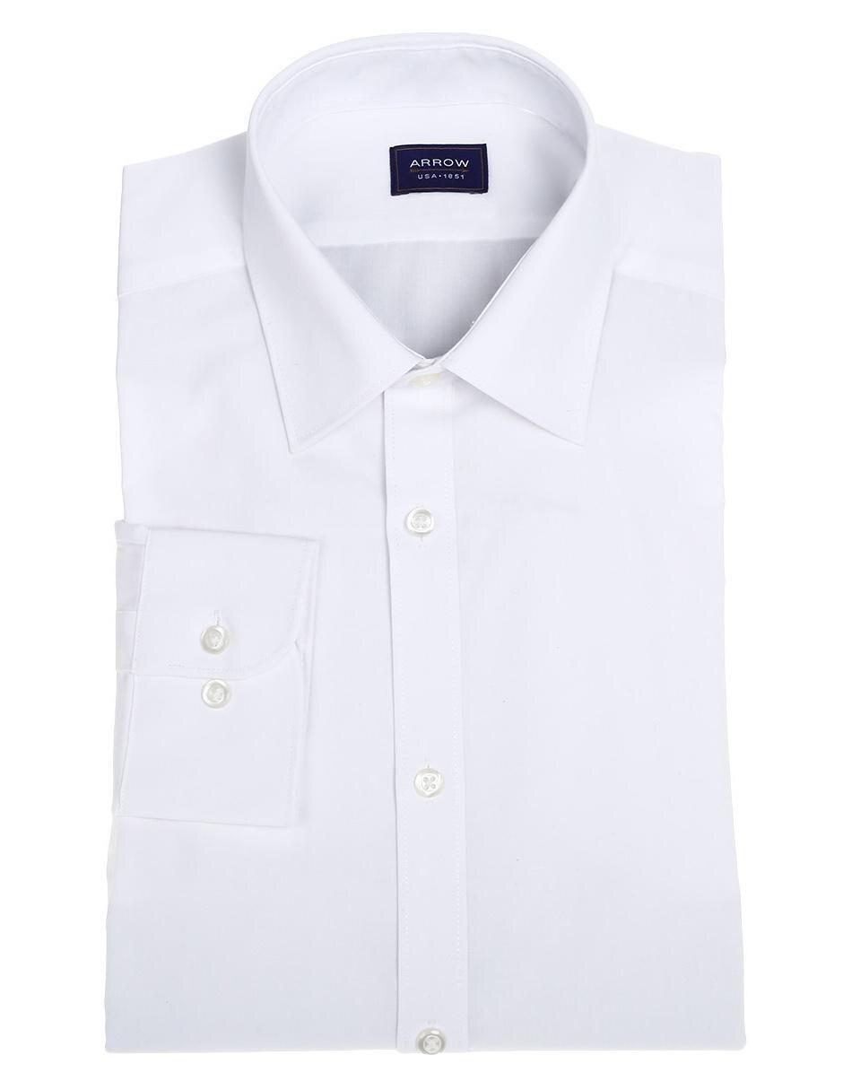 f69fd51a008a2 Camisa de vestir Arrow corte slim fit cuello italiano algodón