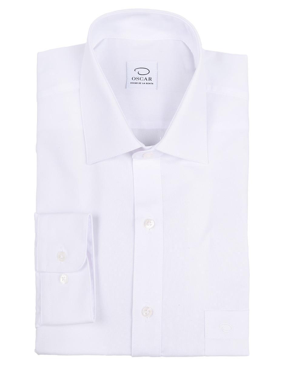 Camisa de vestir Oscar de la Renta cuello francés corte regular fit ...
