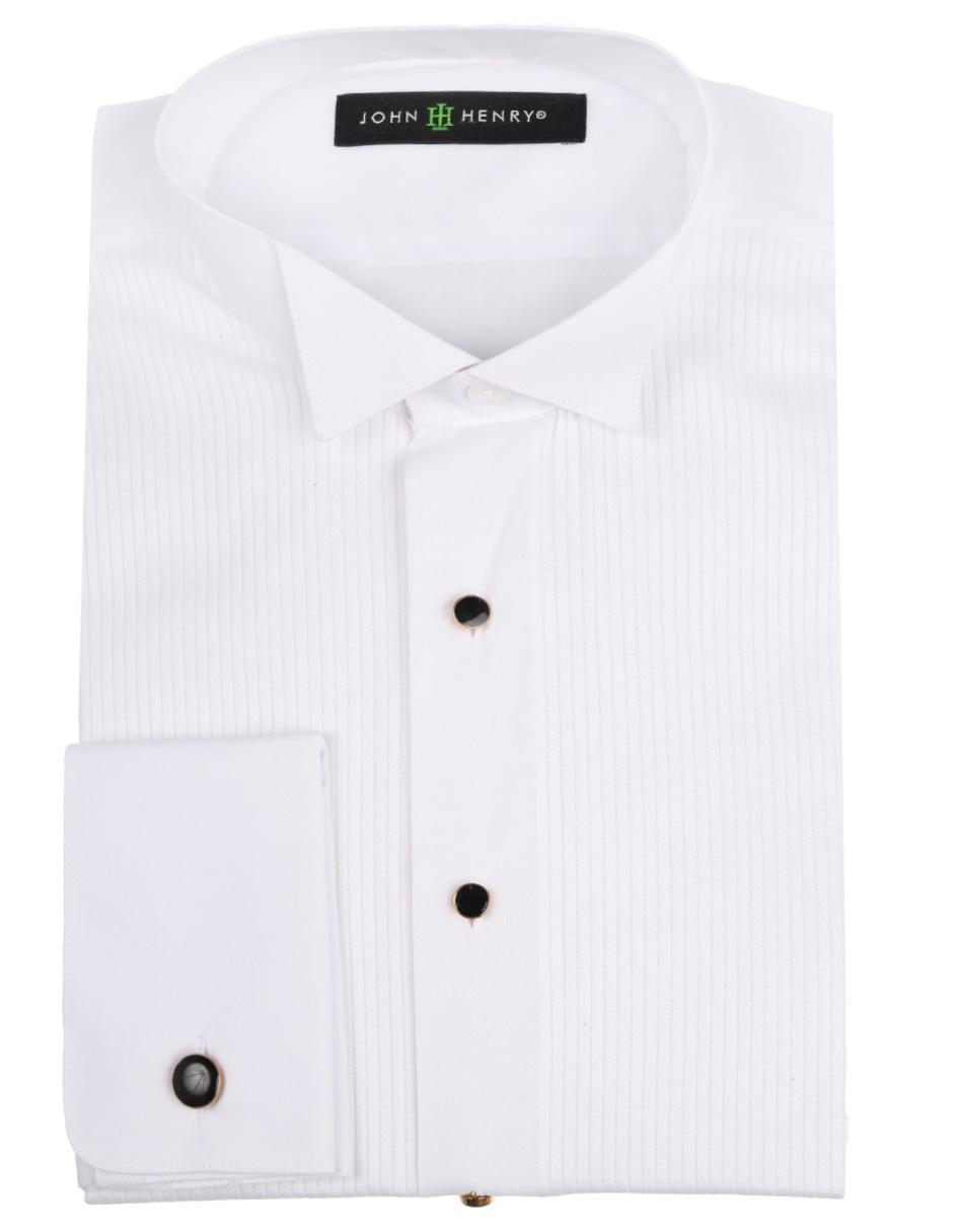 21db6260677 Camisa de vestir John Henry cuello paloma corte slim fit manga larga blanca