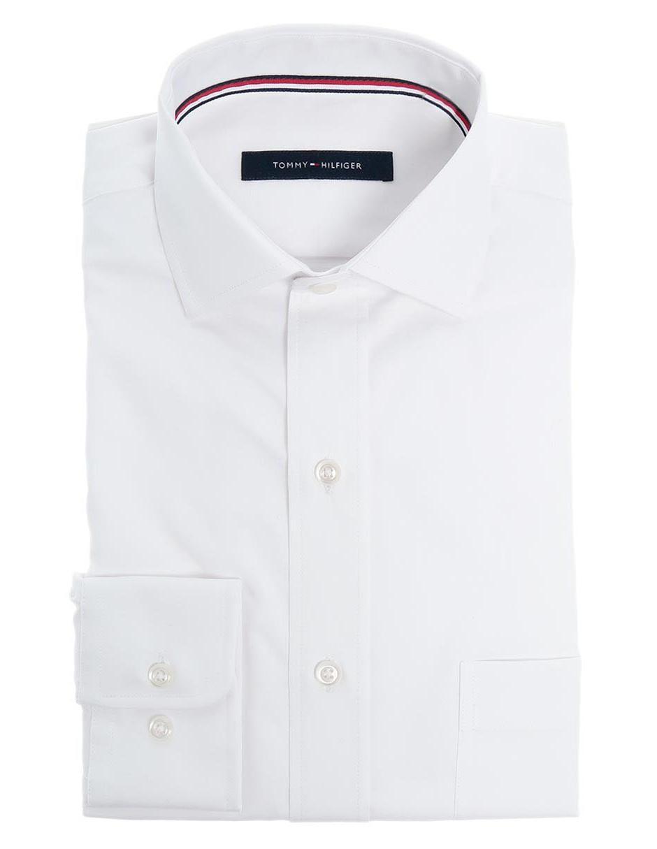 88ff5c4c28c Camisa de vestir Tommy Hilfiger corte regular fit cuello francés algodón